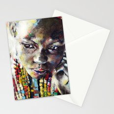 Reverie - Ethnic African portrait Stationery Cards