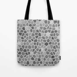 Faux Mosaic in light grays Tote Bag