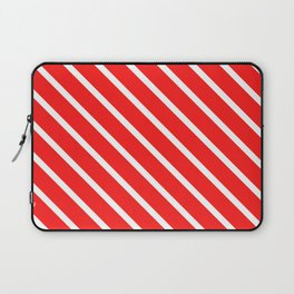 Watermelon Red Diagonal Stripes Laptop Sleeve