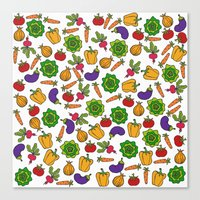 vegetables Canvas Prints featuring Vegetables by Alisa Galitsyna