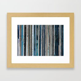 Old Vinyl Framed Art Print