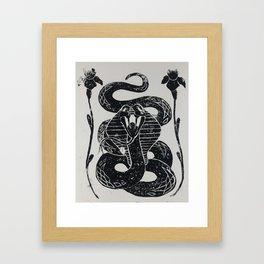 Cobra and Irises Framed Art Print