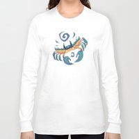 crab Long Sleeve T-shirts featuring Crab by Anya McNaughton