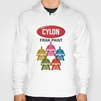 battlestar Hoodies featuring Cylon Frak Paint by Don Calamari
