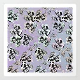 Elegant orchid pattern Art Print