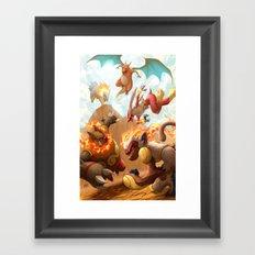 Fire Blast Framed Art Print