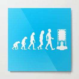 Dr Who Evolution Metal Print