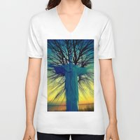 jesus V-neck T-shirts featuring jesus by  Agostino Lo Coco
