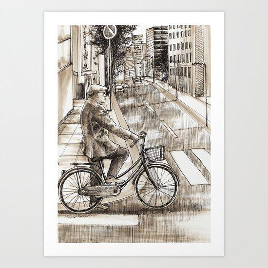City Ride Art Print