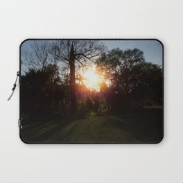 A History Of Whimsical Trees Glowing At Sundown In New Orleans Laptop Sleeve