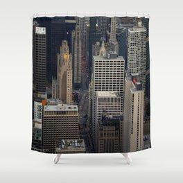 Michigan Avenue Bridge: A Bird's Eye View (Chicago Architecture Collection) Shower Curtain