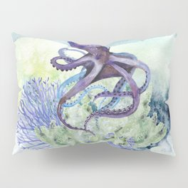 Watercolor Under Sea Collection: Octopus Pillow Sham