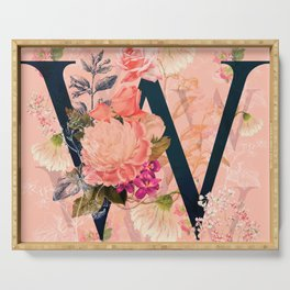 W (Initials) Serving Tray