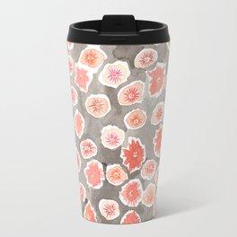 Watercolor flowers pink and gray by robayre Travel Mug