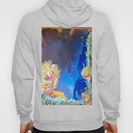 Mad Lucy's Golden Roses. Yellow Roses and Galaxy Blue. Hoody