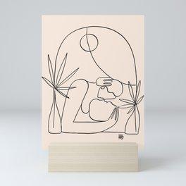 Dreamers no.4 (peach) Mini Art Print