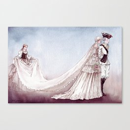 The Royal Wedding - From The Princess and the Pea - By: Hans Christian Andersen Canvas Print