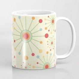 Mid Century Modern Retro 1970s Inspired SunBurst in Muted Colors Coffee Mug