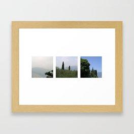 Italian landscape view Framed Art Print