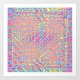Diagonal fragmentation Art Print