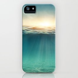 Breeze of the blue ocean iPhone Case