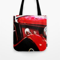 ford Tote Bags featuring Ford V8 by Shalisa Photography