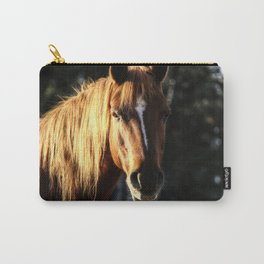 Golden Arabian Pony Portrait Carry-All Pouch