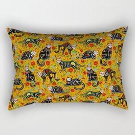 Day Of The Dead Pattern   Dia De Los Muertos Skull Rectangular Pillow