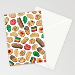 Italian Cookie Pattern Stationery Cards