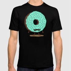 The Mustache Donut Black MEDIUM Mens Fitted Tee