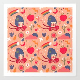 Weather looks peachy Art Print