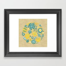 Little Flower Circle Framed Art Print