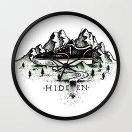 Hidden color version Wall Clock
