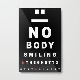 Nobody Smiling 20/20 Vision - Peppermint Metal Print