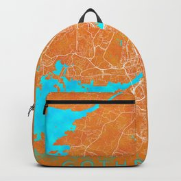Gothenburg, Sweden, Gold, Blue, City, Map Backpack