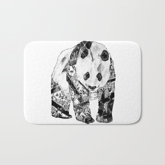 Tattooed Panda Bath Mat