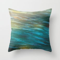Turbulance in Breaking Light Throw Pillow
