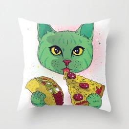 Cosmic Cat Throw Pillow