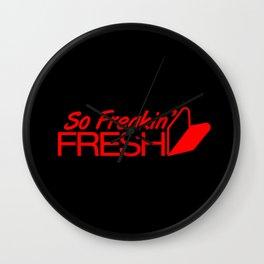 So Freakin' Fresh v6 HQvector Wall Clock