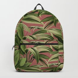 Cordyline Princess Margaret Watercolor Rose Pattern Backpack
