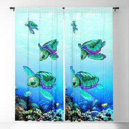 Sea Turtles Dance Blackout Curtain