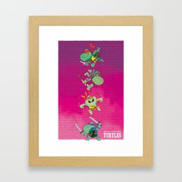 Young mutant ninja turtles Framed Art Print