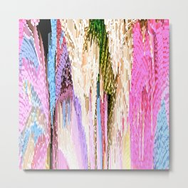 Pink Abstract Enlightenment Metal Print