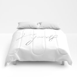 LOVE YOURSELF Comforters