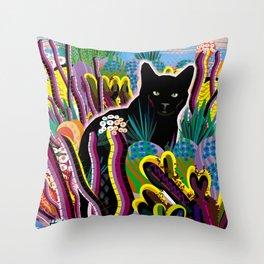 Koko in the Garden Throw Pillow