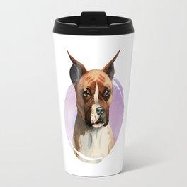Boxer Dog Watercolor Painting 2 Travel Mug