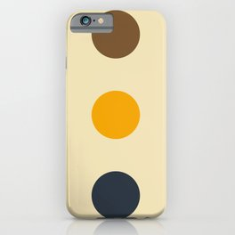 Knockers - Colorful Dots on Beige iPhone Case