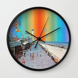 Boardwalk Rainbow Wall Clock