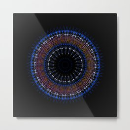 Zen tangle Mandala Metal Print