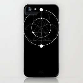 Circle Moon Black iPhone Case